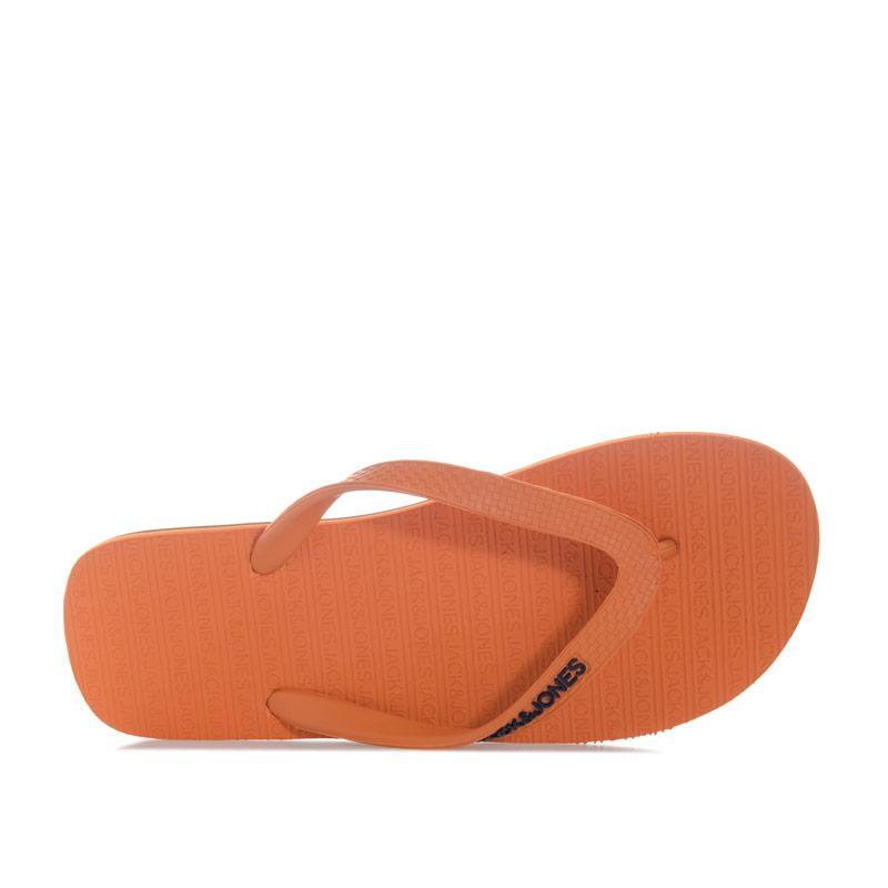 Jack Jones Mens Basic Flip Flops Orange