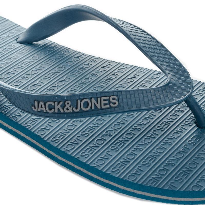 Jack Jones Mens Basic Flip Flops Teal