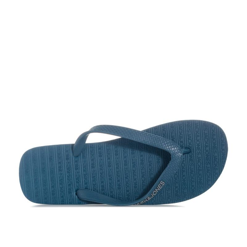 Jack Jones Mens Basic Flip Flops Teal