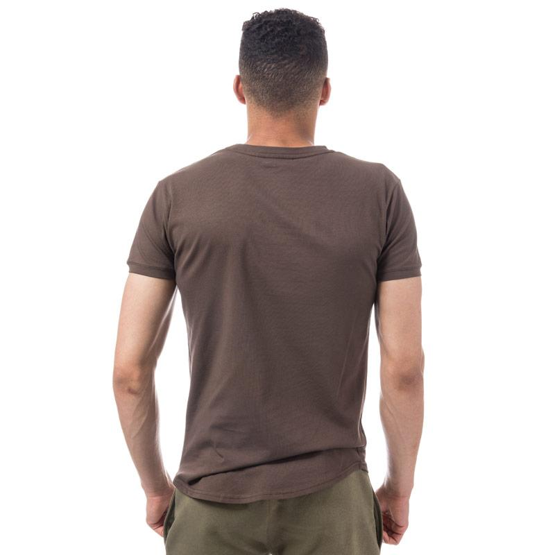Tričko Gym King Mens Long Line T-Shirt Brown