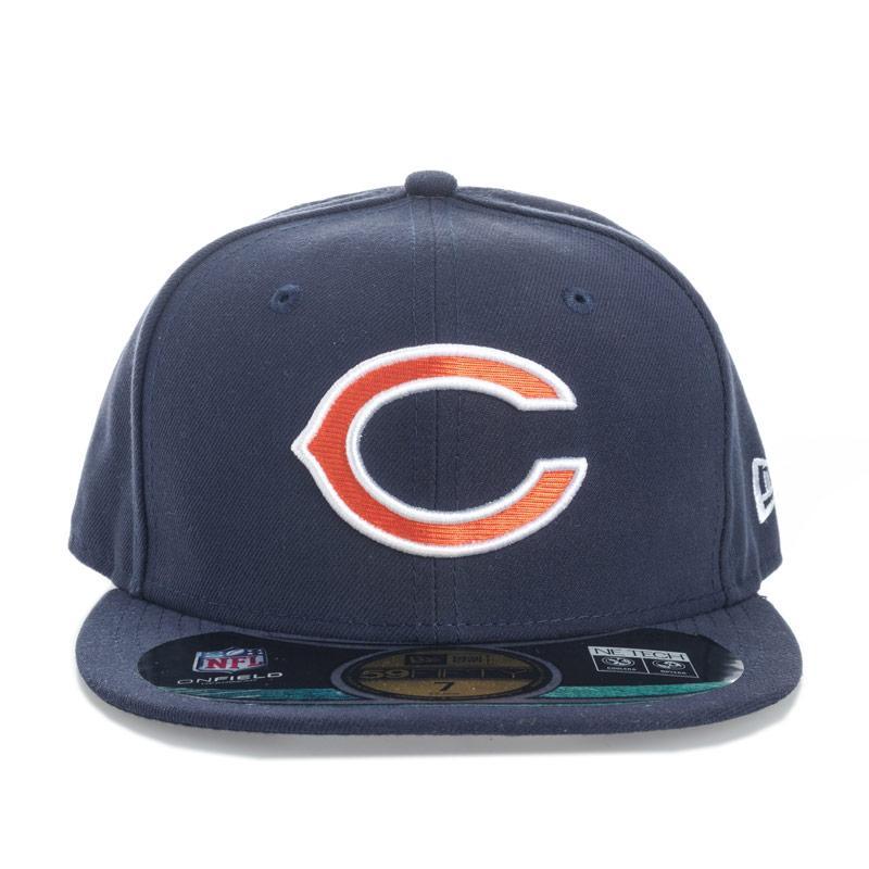 New Era Mens Onfield Chicago Bears 59fifty Cap Navy