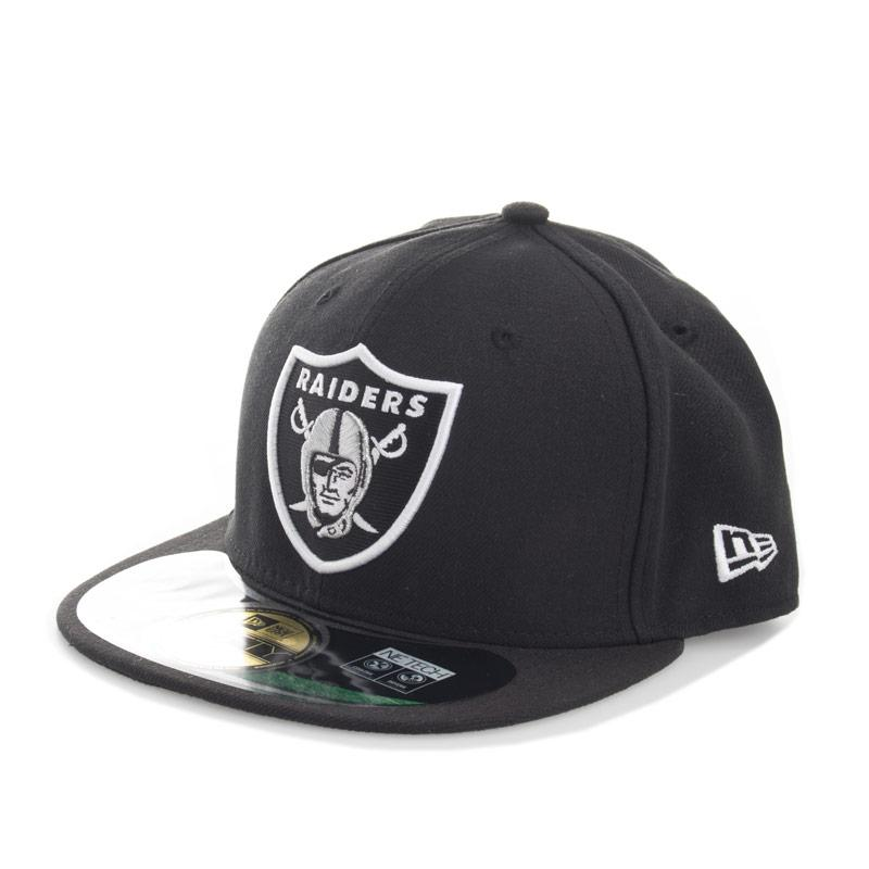 New Era Mens Onfield Oakland Raiders 59fifty Cap Black