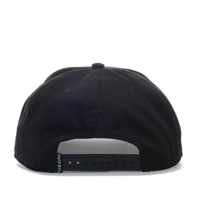 Gym King Mens Snapback Cap Black