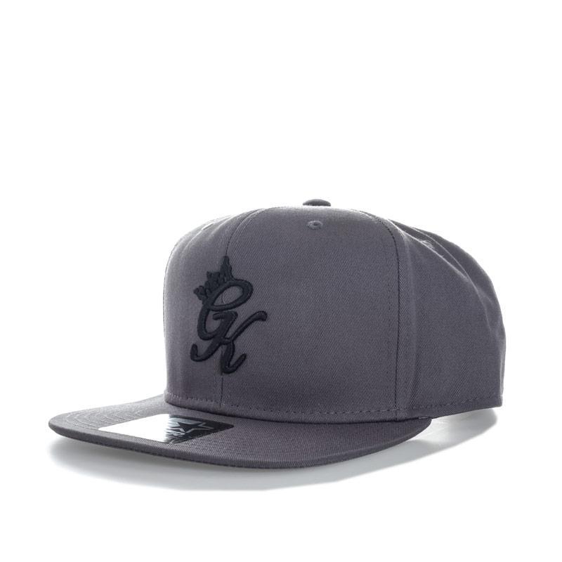 Gym King Mens Snapback Cap Grey