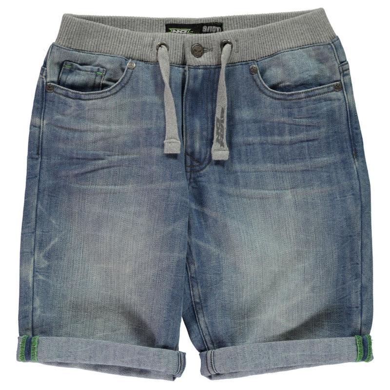 Kraťasy No Fear Denim Shorts Junior Boys Bleached Wash