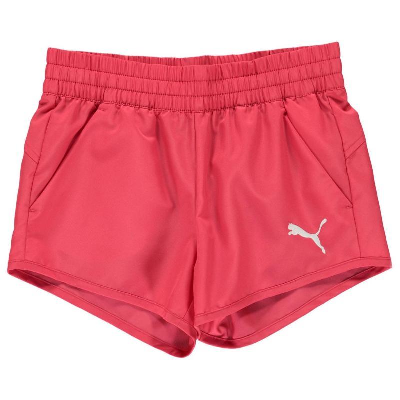 Puma Woven Shorts Girls Pink