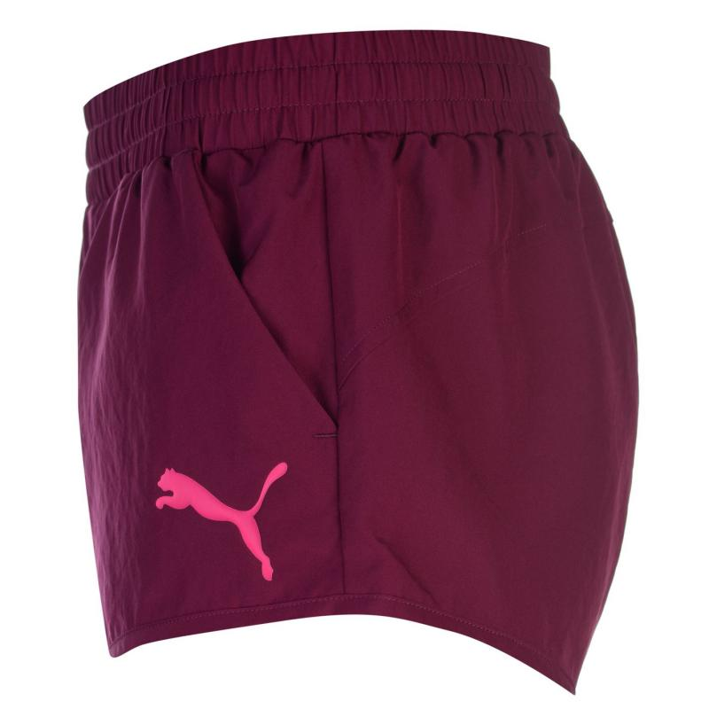 Puma Woven Shorts Ladies Pink