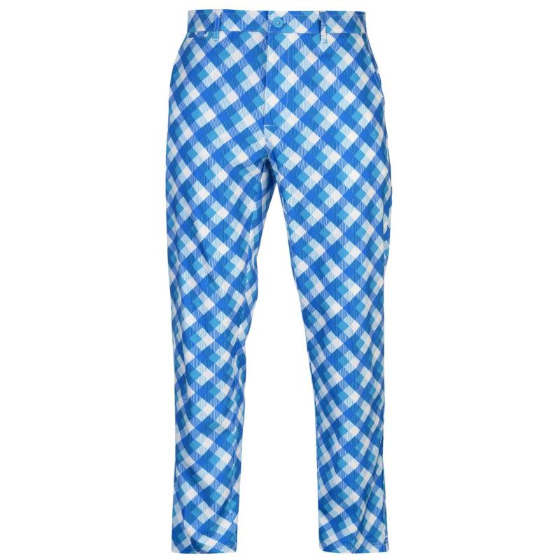 Kalhoty Slazenger Print Golf Trousers Mens Bright Check