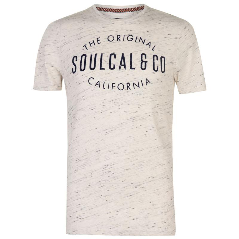 Tričko SoulCal Tex Fleck T Shirt Mens Blue AOP