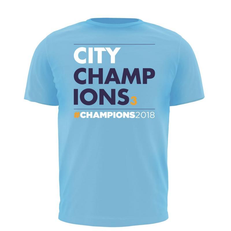 Tričko Team Man City Champions T Shirt Field Blue