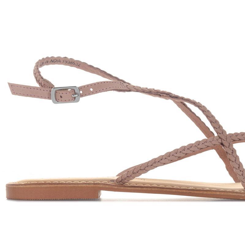 Boty Vero Moda Womens Beta Leather Sandals Dusky Pink