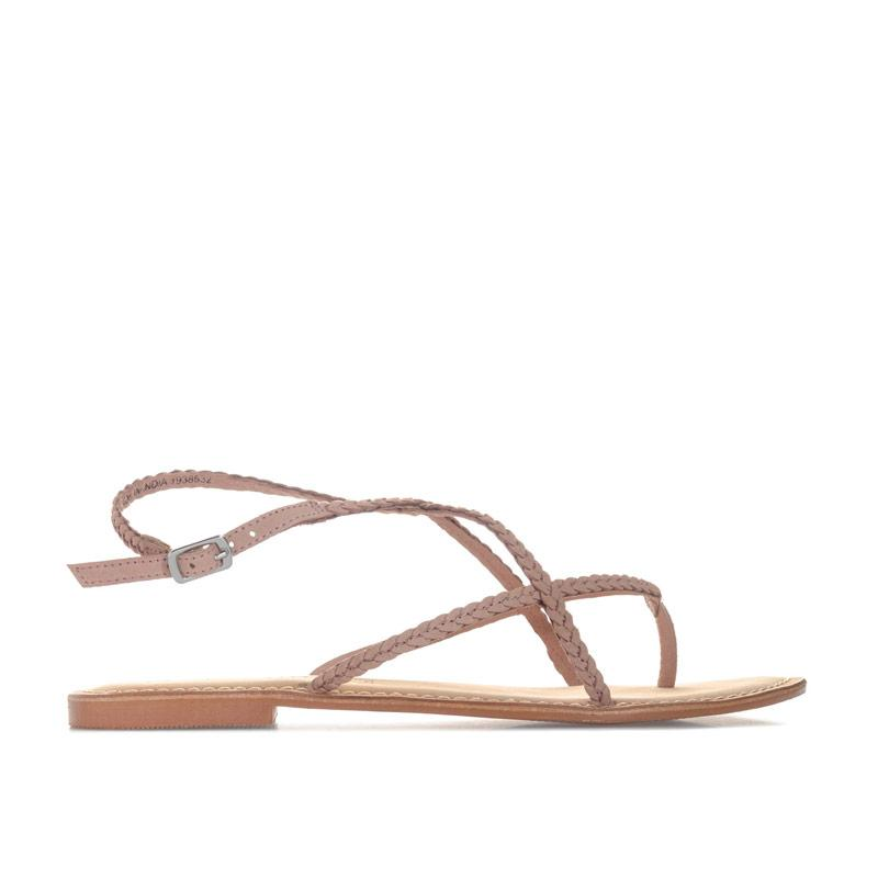Boty Vero Moda Womens Beta Leather Sandals Dusky Pink