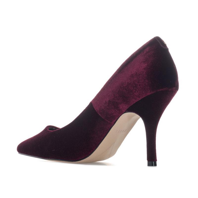 Ravel Womens Scala Velvet Court Shoes Burgundy