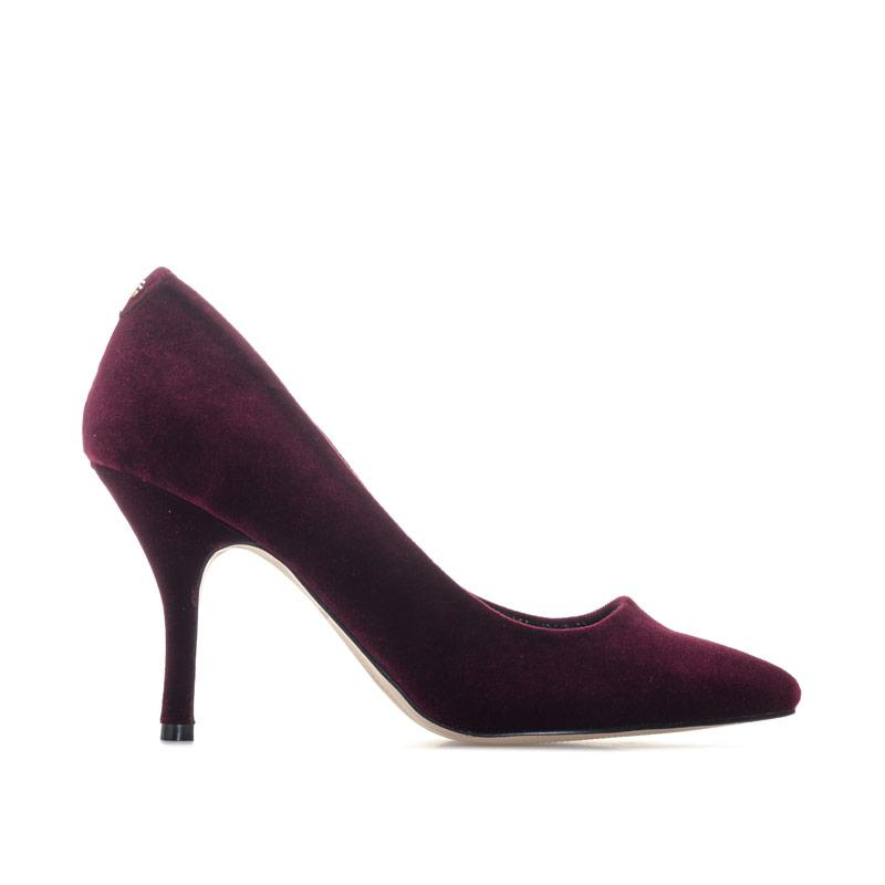Ravel Womens Scala Velvet Court Shoes Burgundy