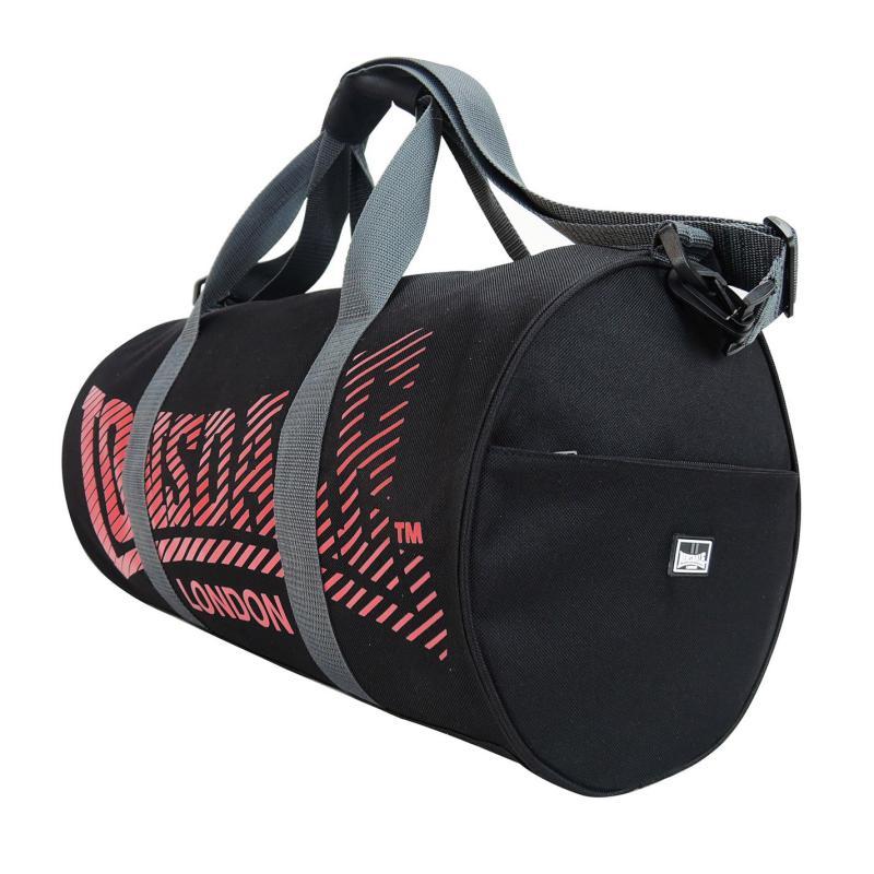 Lonsdale Barrel Bag Black/Red