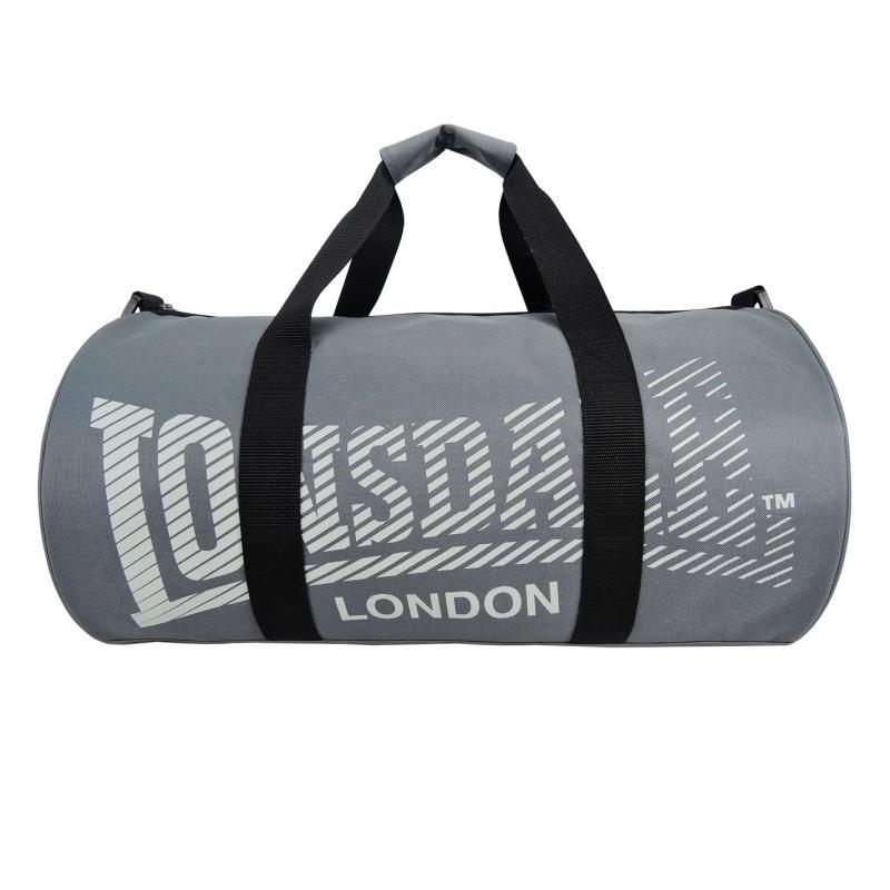 Lonsdale Barrel Bag Charcoal/Grey