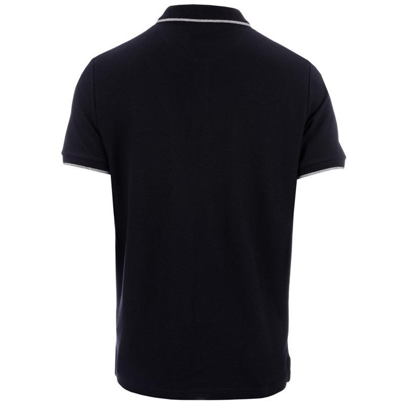 Ben Sherman Mens Tipped Pique Polo Shirt Grey Marl