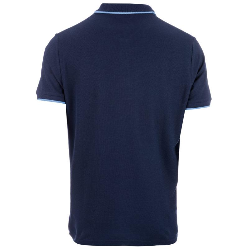 Ben Sherman Mens Tipped Pique Polo Shirt Navy