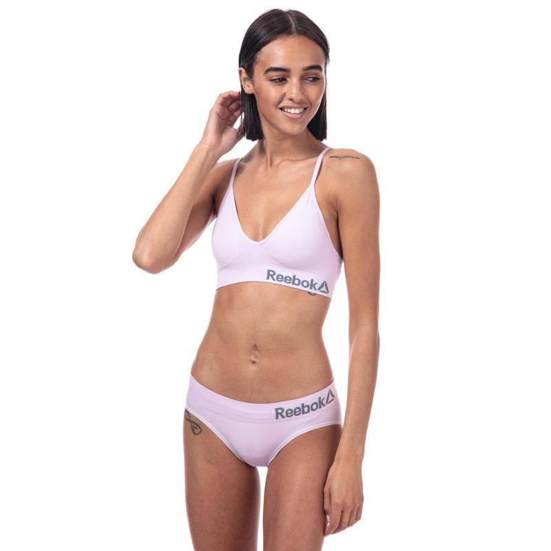 Spodní prádlo Reebok Womens Paige Seamless Sports Briefs Pink