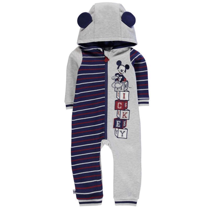 Pyžamo Disney Fleece Onesie Baby Boys Mickey Mouse