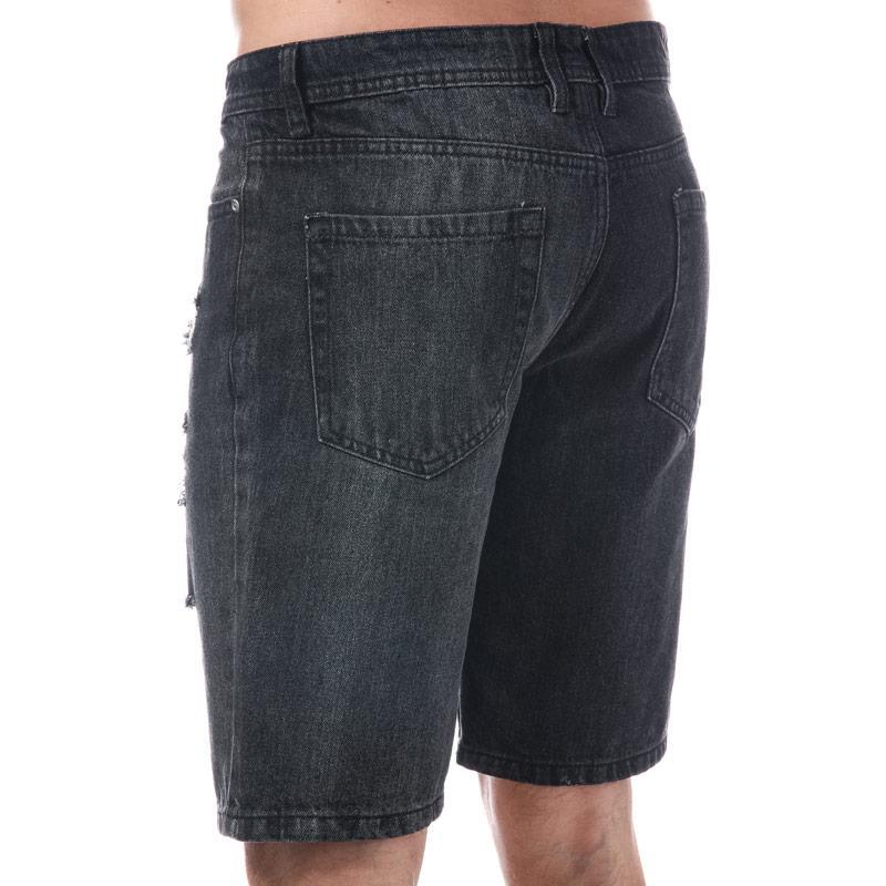 D-Struct Mens Holmstrom Denim Short Black