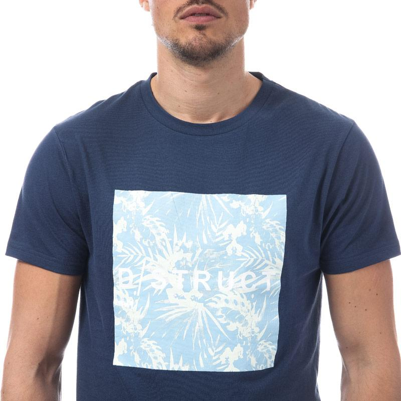Tričko D-Struct Mens Tropically Logo T-Shirt White