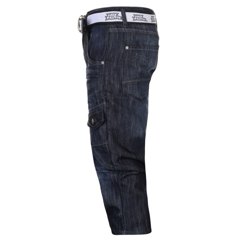 No Fear Belt Cargo Shorts Mens Dark Wash