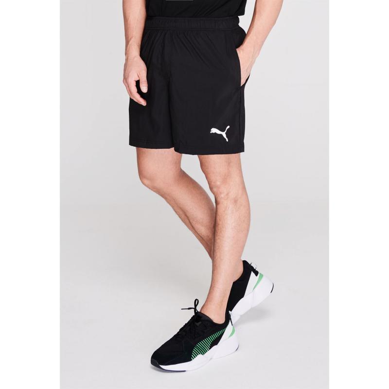 Puma Football Training Shorts Mens Black/White
