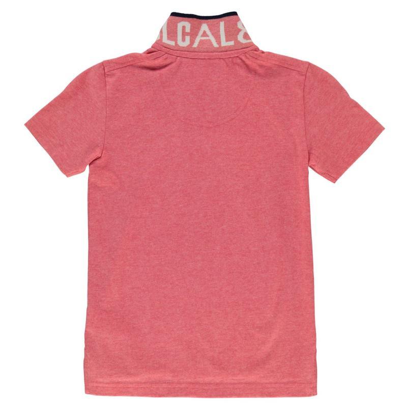 Tričko SoulCal Peached Polo Shirt Junior SkiPatrol Red
