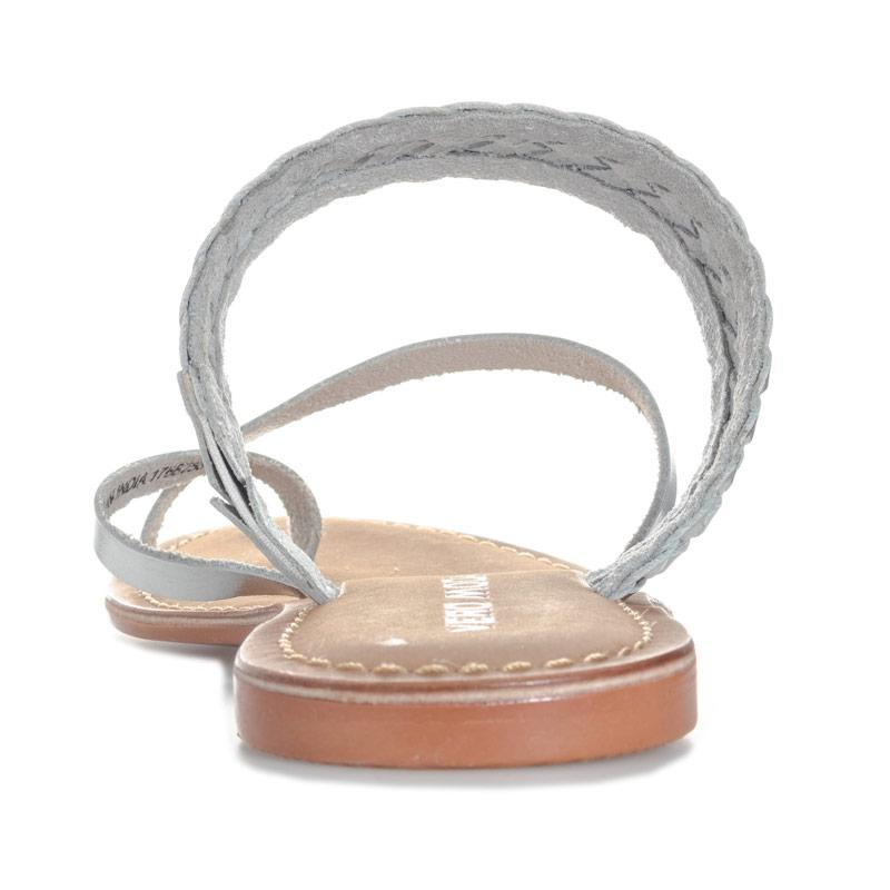 Boty Vero Moda Womens Alva Leather Sandals Silver