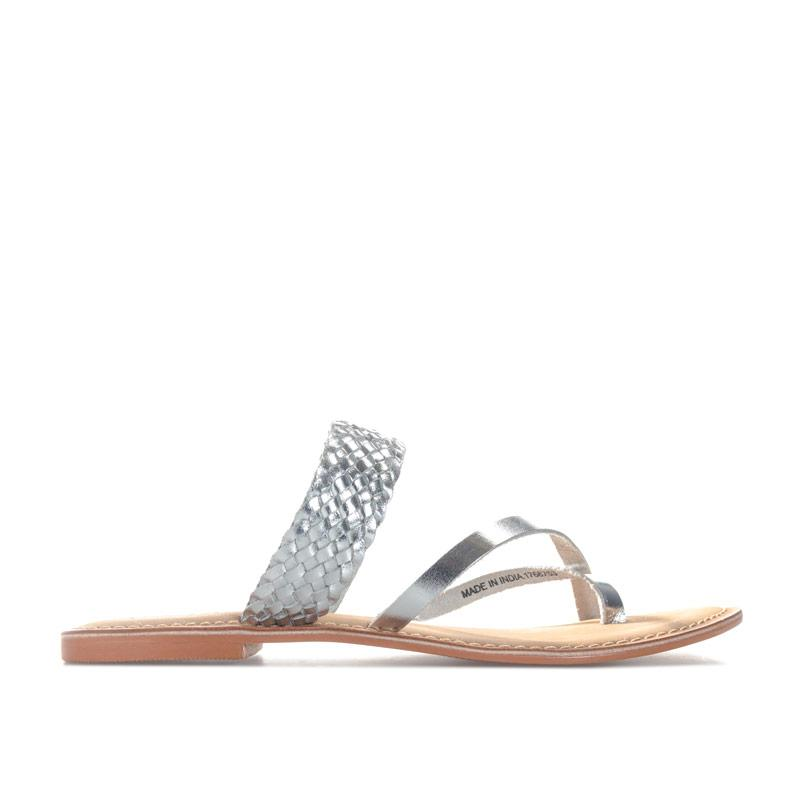 Boty Vero Moda Womens Alva Leather Sandals Silver