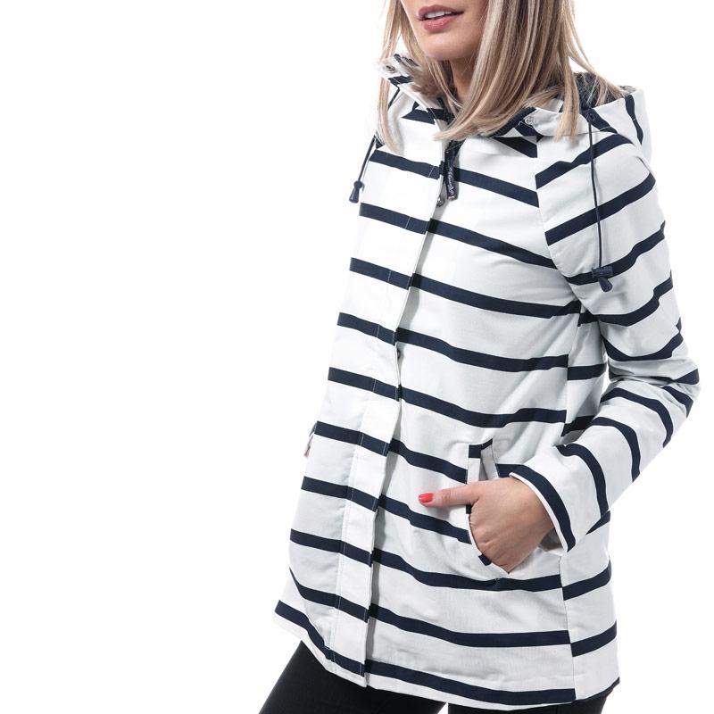 Harvey And Jones Womens Bateau Striped Jacket Navy-White