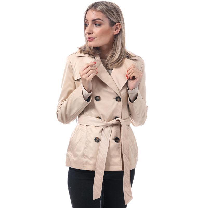Harvey And Jones Womens Louisa Short Trench Coat Natural