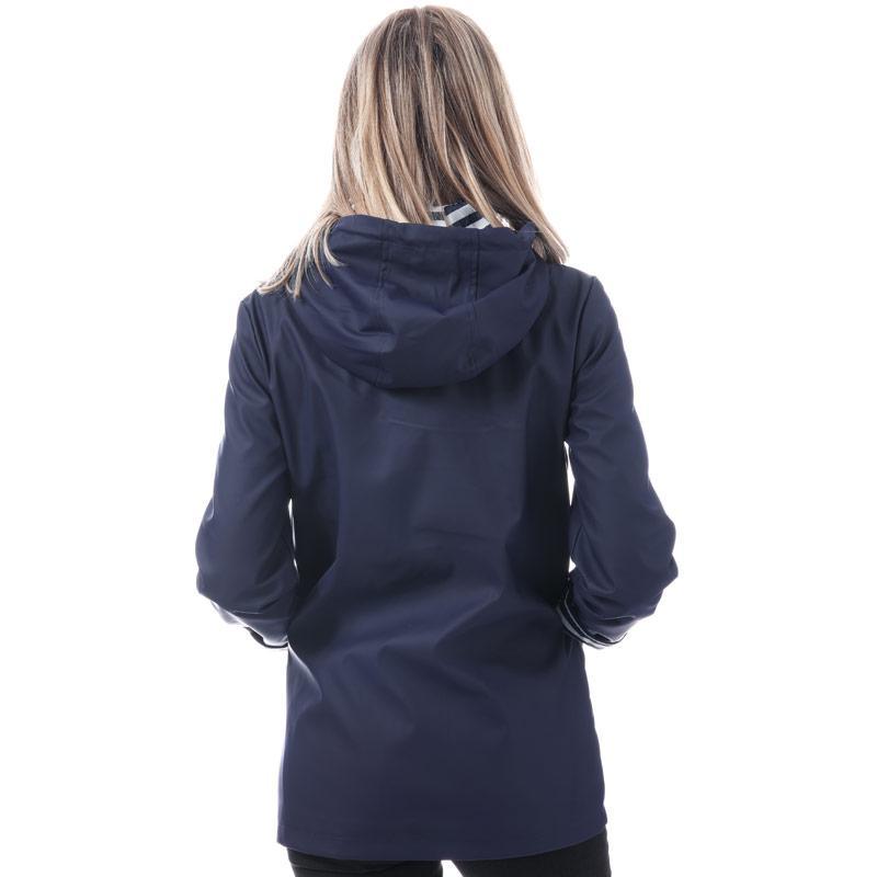 Harvey And Jones Womens Marina Rubber Jacket Navy
