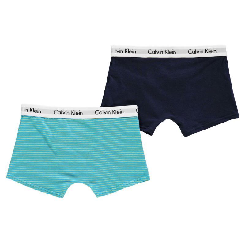 Spodní prádlo Calvin Klein 2 Pack Trunks Sky Stripe/Nvy