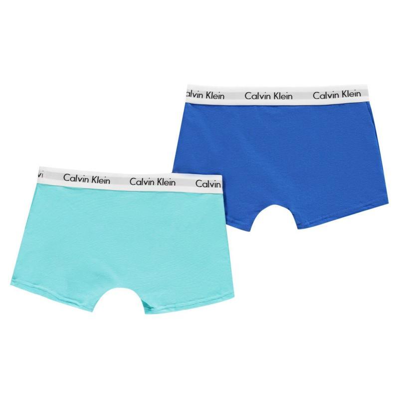 Spodní prádlo Calvin Klein 2 Pack Trunks Royal/Aqua
