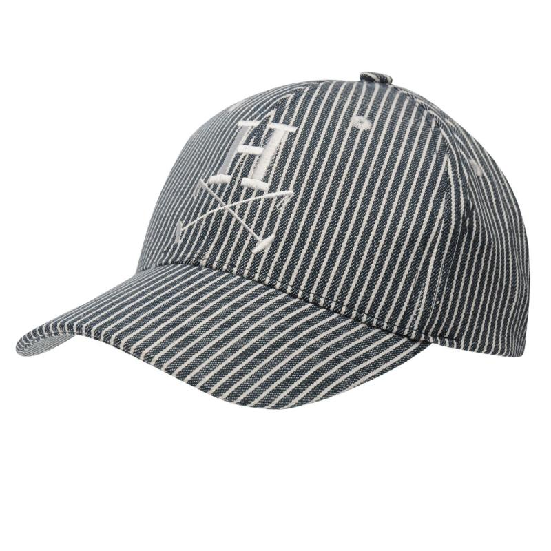 Horseware Polo Baseball Cap Ladies Navy Pinstripe