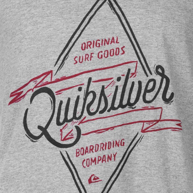 Tričko Quiksilver Midnight Co T Shirt Mens Grey Heather
