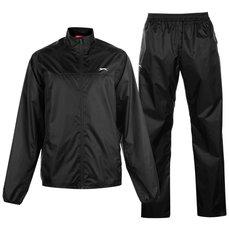 Slazenger Packable Waterproof Suit Mens Black