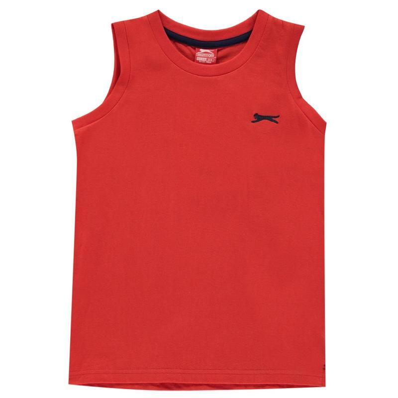 Tílko Slazenger Sleeveless T Shirt Junior Boys Poppy Red