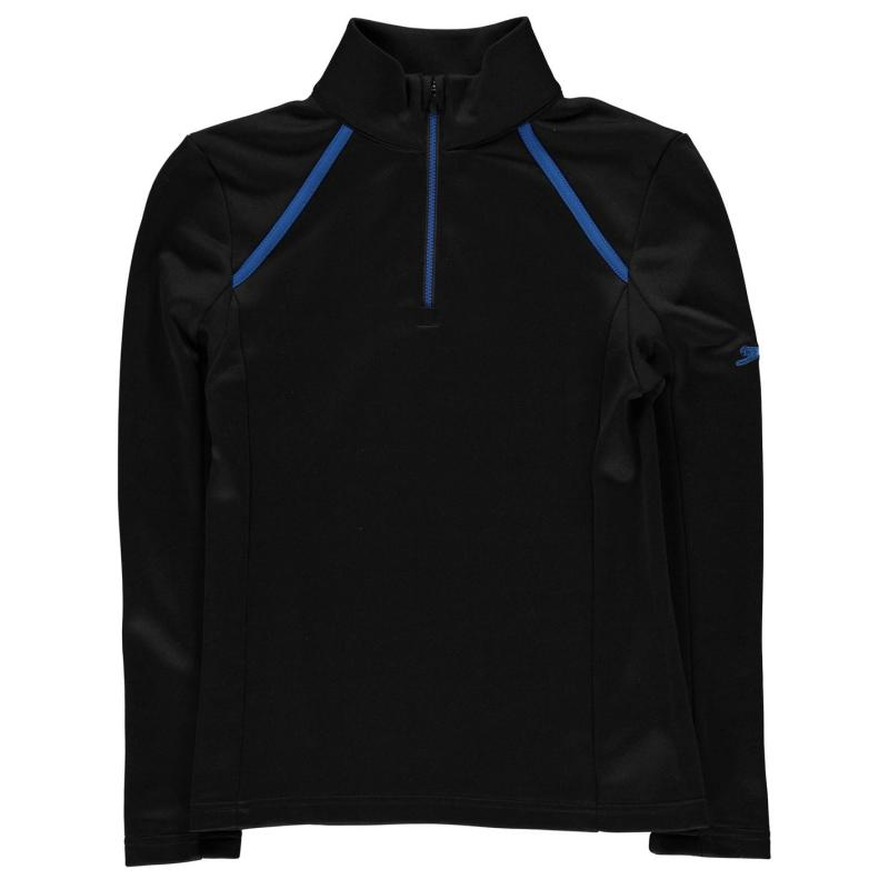 Kalhoty Slazenger Zip Pullover Junior Boys Black