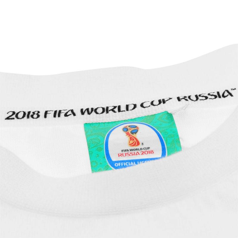 Tričko FIFA World Cup Russia 2018 England Mascot T Shirt Infants White