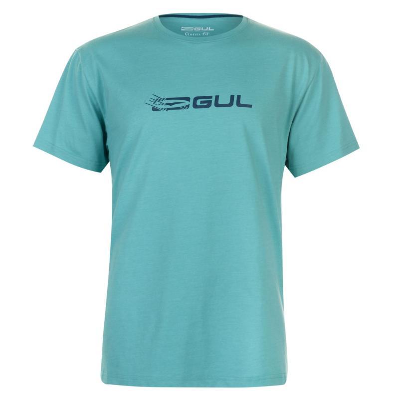 Tričko Gul Large Logo T Shirt Mens Turq/Blue
