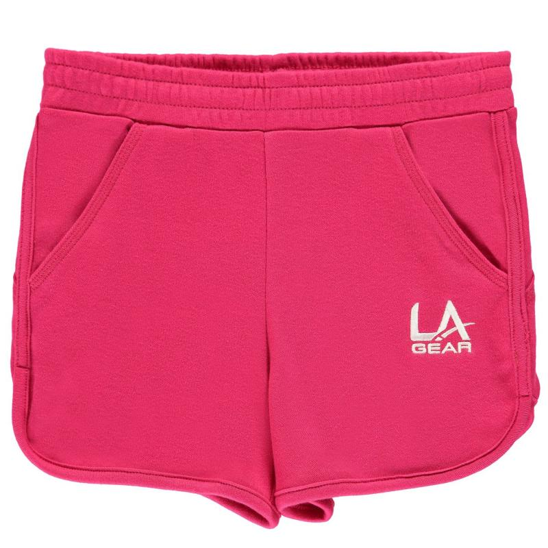 LA Gear Interlock Shorts Junior Girls Pink