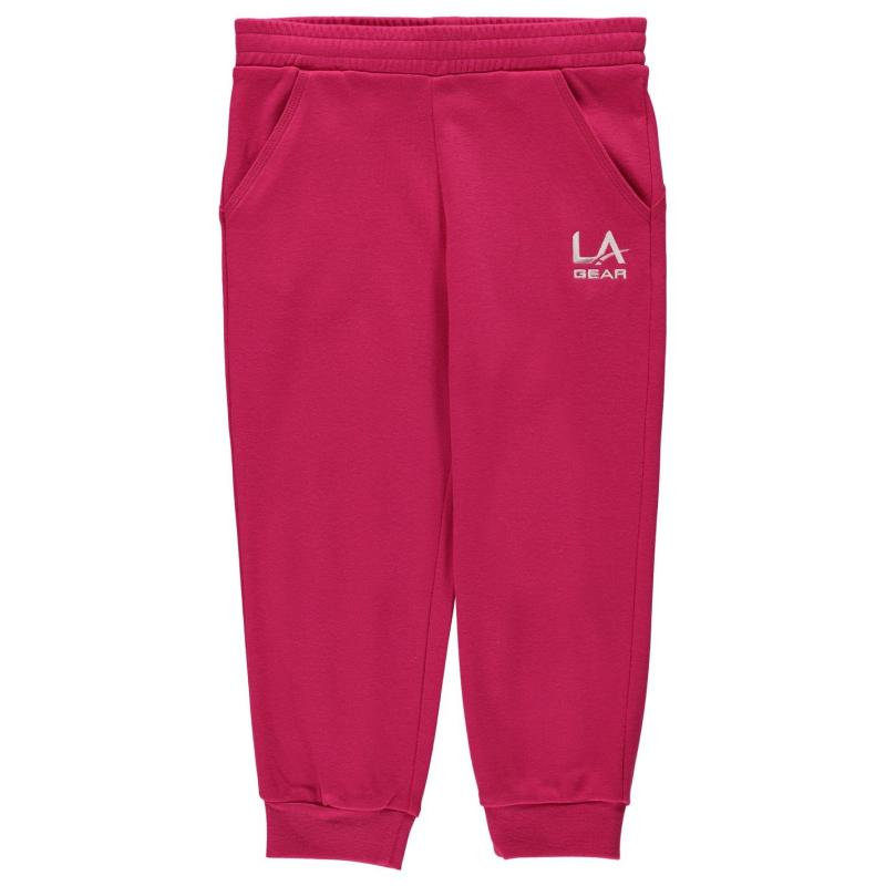 LA Gear three quarter Interlocked Pants Junior Girls Pink