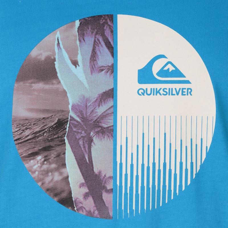 Tričko Quiksilver Half Mixed T Shirt Mens Atomic Blue