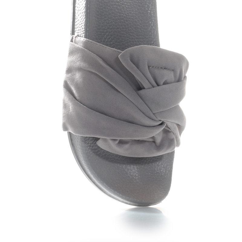 Boty 7x Womens Flower Slide Sandals Grey