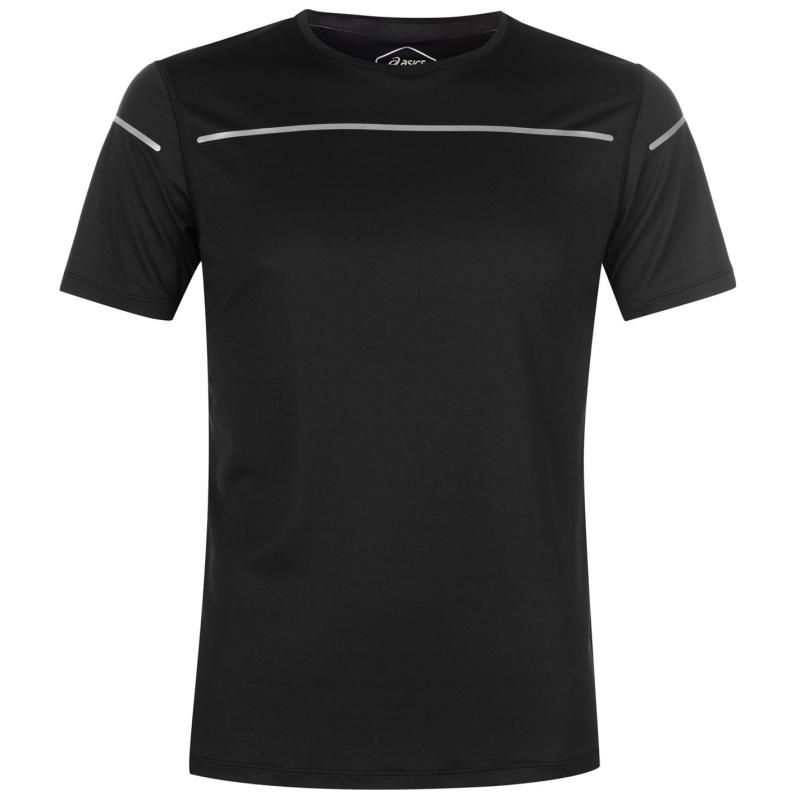 Tričko Asics Lite Short Sleeve T Shirt Mens Black d03f7ea54b