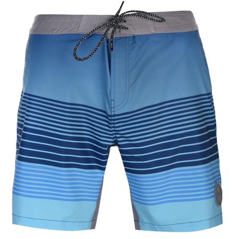 Plavky Gul Print Board Mens Shorts Blue/Blue