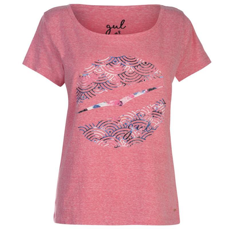 Gul Slouch T Shirt Ladies Pink Marl